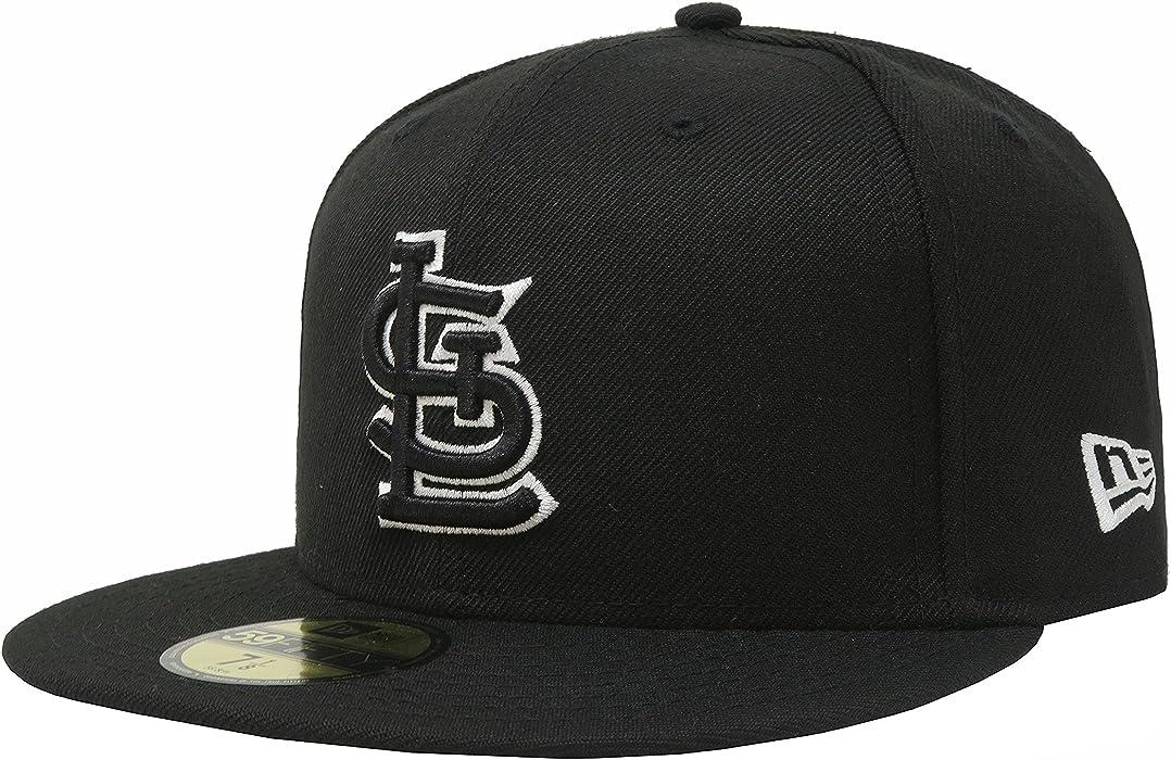 226525d2016 New Era 59Fifty Men Hat MLB St. Louis Cardinals Black White Fitted Headwear  Cap
