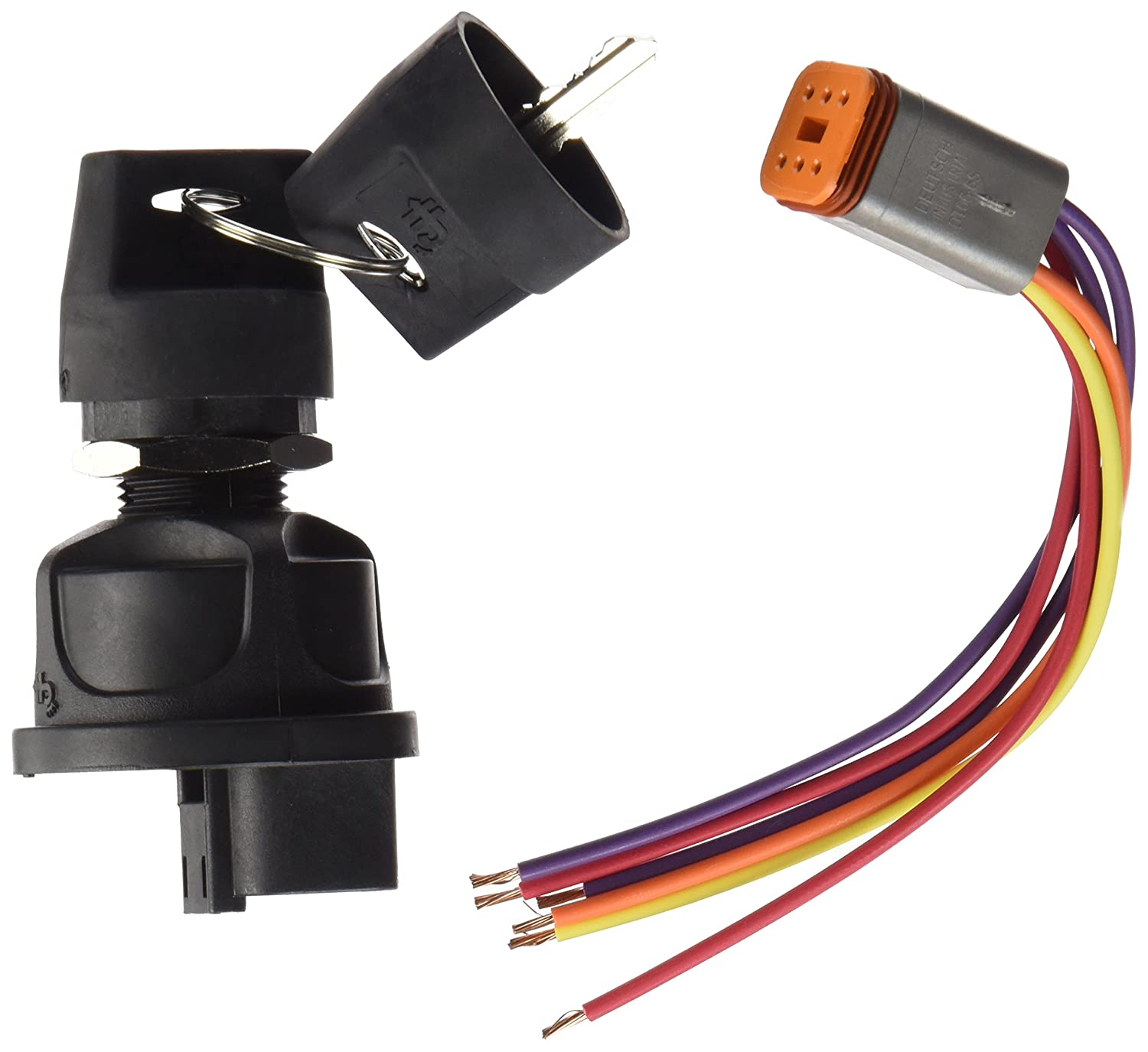 Cole Hersee 95060-60-BP Rotary Ignition Switch 3 Position Plastic W// 31101 Harness