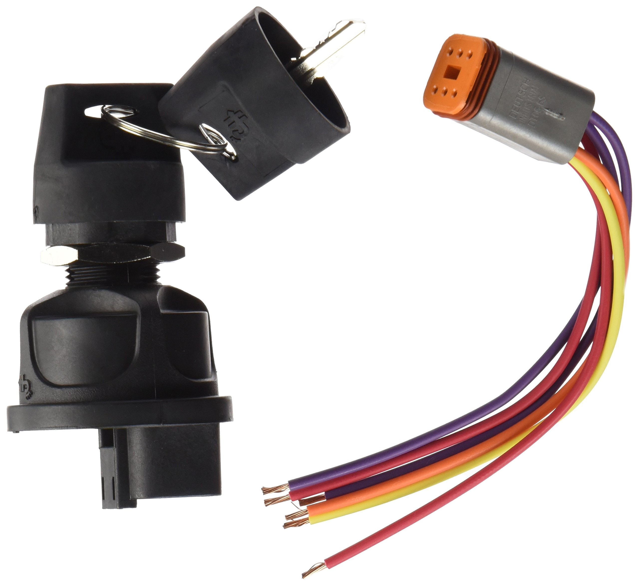 Cole Hersee 95060-60-BP Rotary Ignition Switch (3 Position Plastic W/ 31101 Harness)