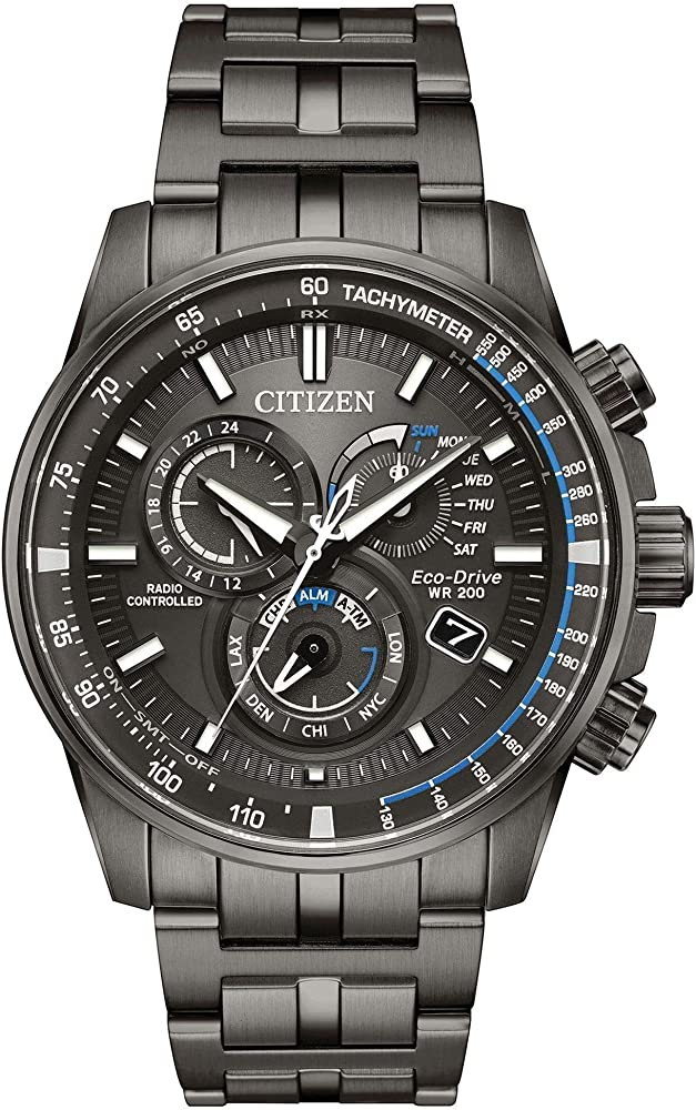 8b9314d7f Citizen Watches Men's AT4127-52H Eco-Drive Grey Ion Plated One Size