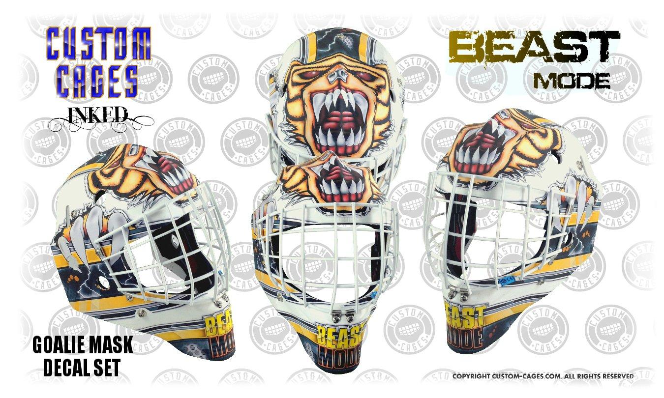 Goalie mask decal set goalie masks amazon canada