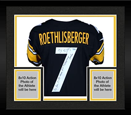 1d4caba75f1 Framed Ben Roethlisberger Pittsburgh Steelers Autographed Black Nike Elite  Jersey with Multiple Inscriptions - Limited Edition