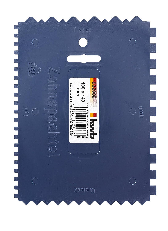 KWB Plastic Notched Trowel Serrated 032900 (4-Sided 180 x 140 mm) 0329-00