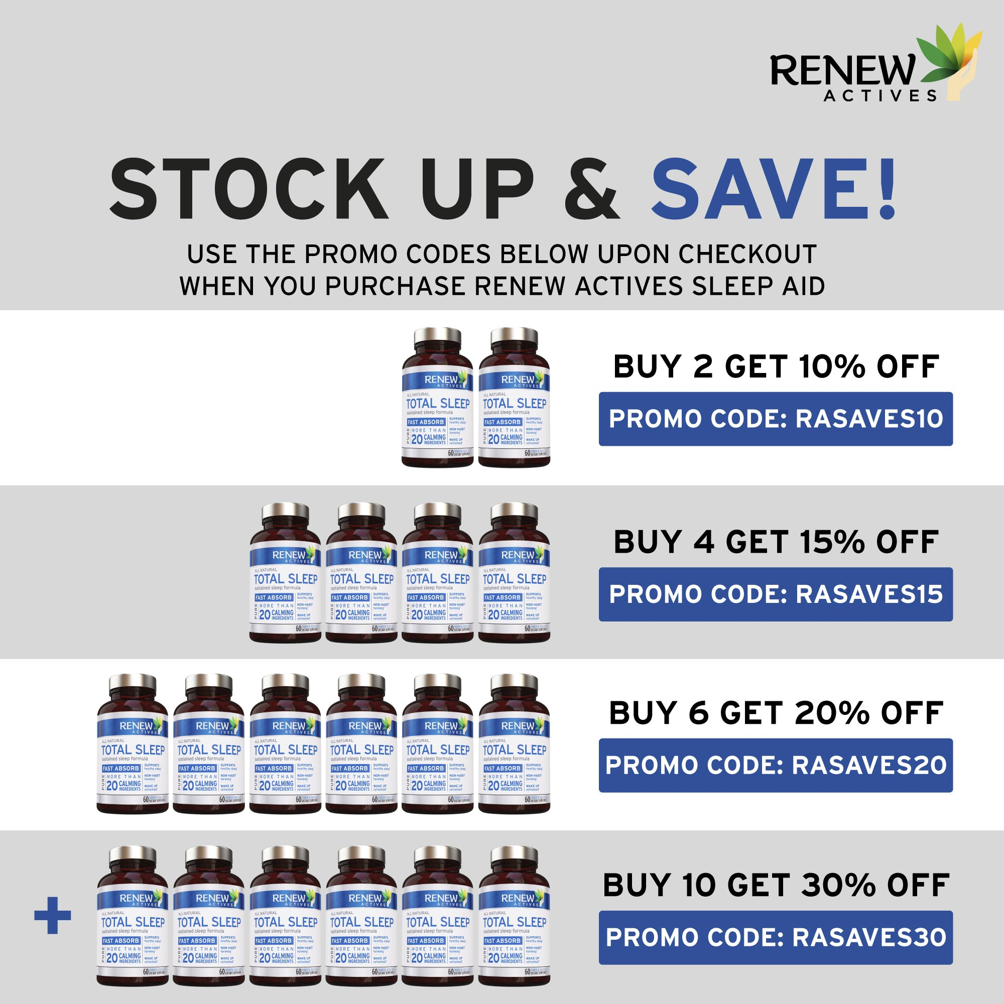 All Natural Sleep Aid Supplement. Non-Habit Forming Sleeping Pill. Our Guarantee is A Deeper, Longer & Restful Sleep! Starting Tonight Get the Peaceful & Natural Sleep You Deserve! by Renew Actives (Image #3)