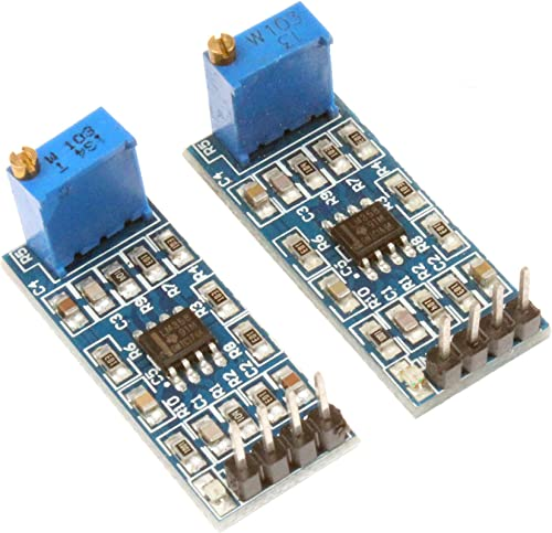 NOYITO LM358 100 Gain Signal Amplification Module Operational Amplifier Module Working Voltage DC5 to 12V Pack of 2