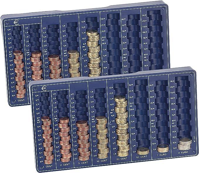 Euro-Münzbrett für alle Euro und Cent-MünzenMünzsortierer Geld Münzbrett