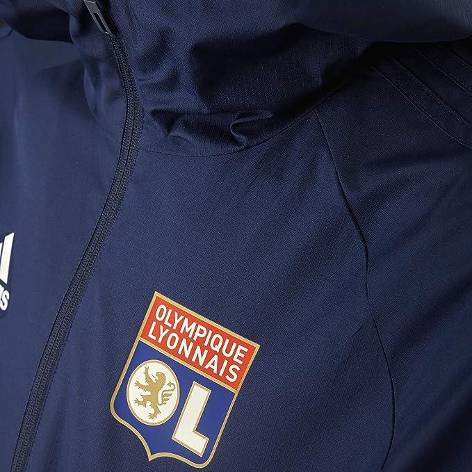 Olympique Lyonnais Coupe Vent Bleu Adidas OL 1920 Football