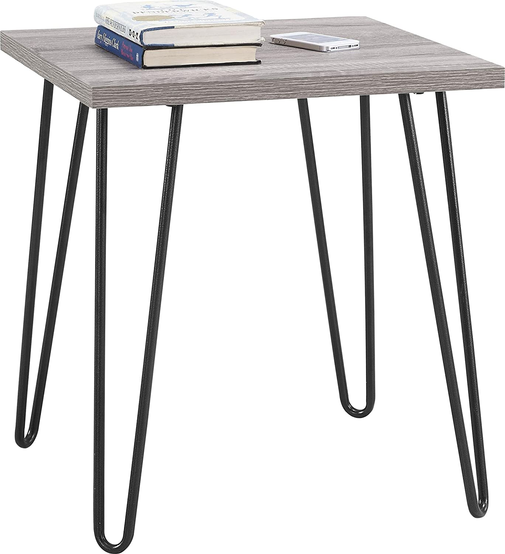 Amazon.com: Ameriwood Home Owen Retro End Table, Sonoma Oak/Gunmetal ...