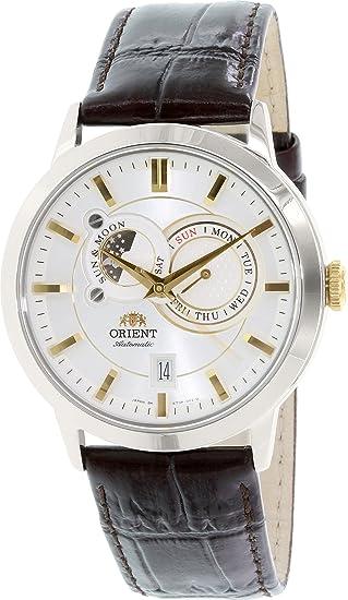 Orient de hombre Classic et0p004 W reloj automático de piel marrón