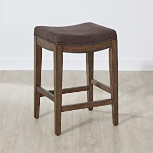 Liberty Furniture INDUSTRIES Aspen Skies Upholstered Console Stool, W18 x D15 x H26, Light Brown
