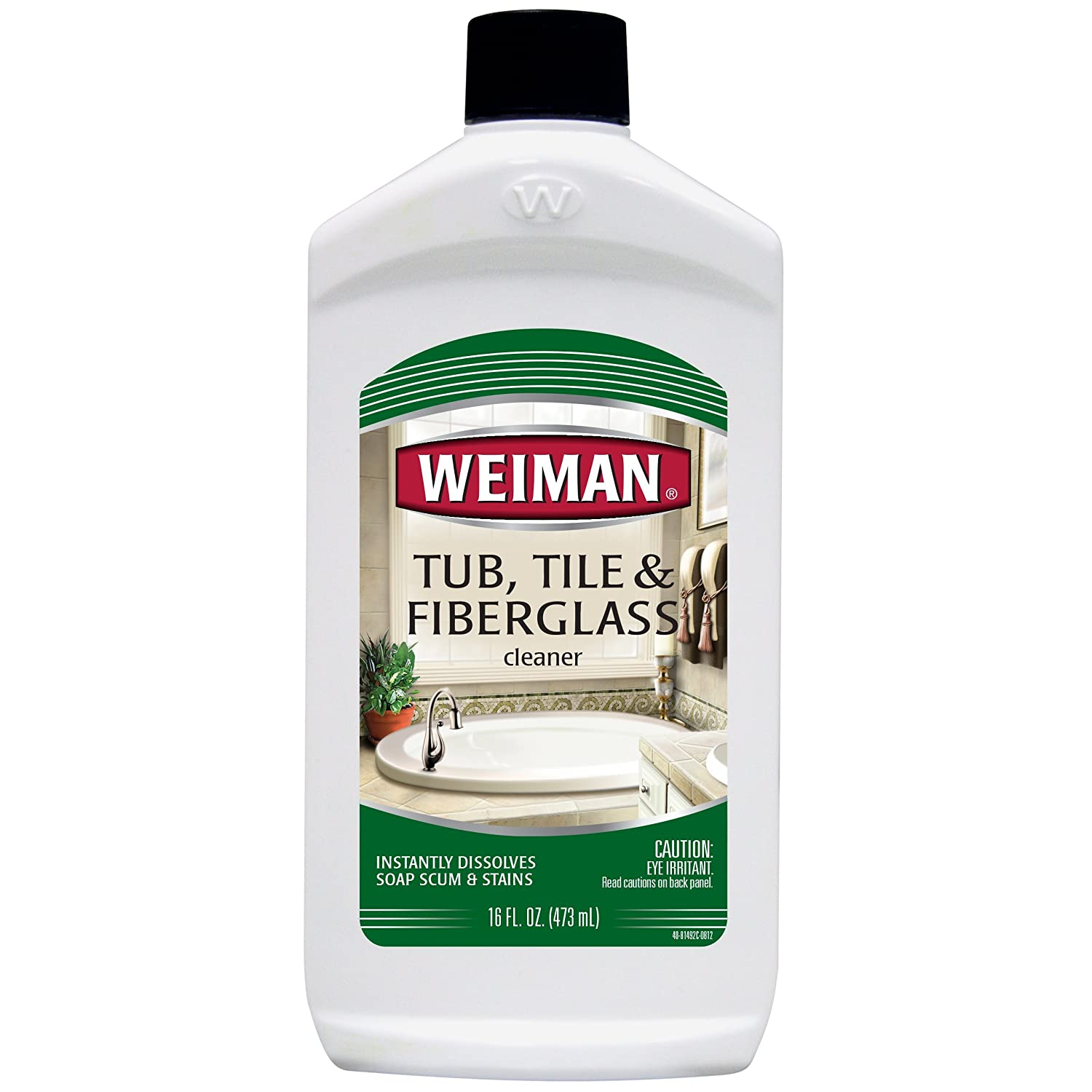 Weiman Fiberglass Cleaner for Bathrooms, 16-Ounce Bottle 40