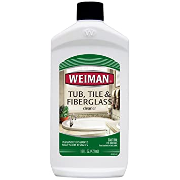 Weiman Bath Tub Cleaner   16 Ounce   Fiberglass Cleaner For Bathrooms, Tile  Tub And