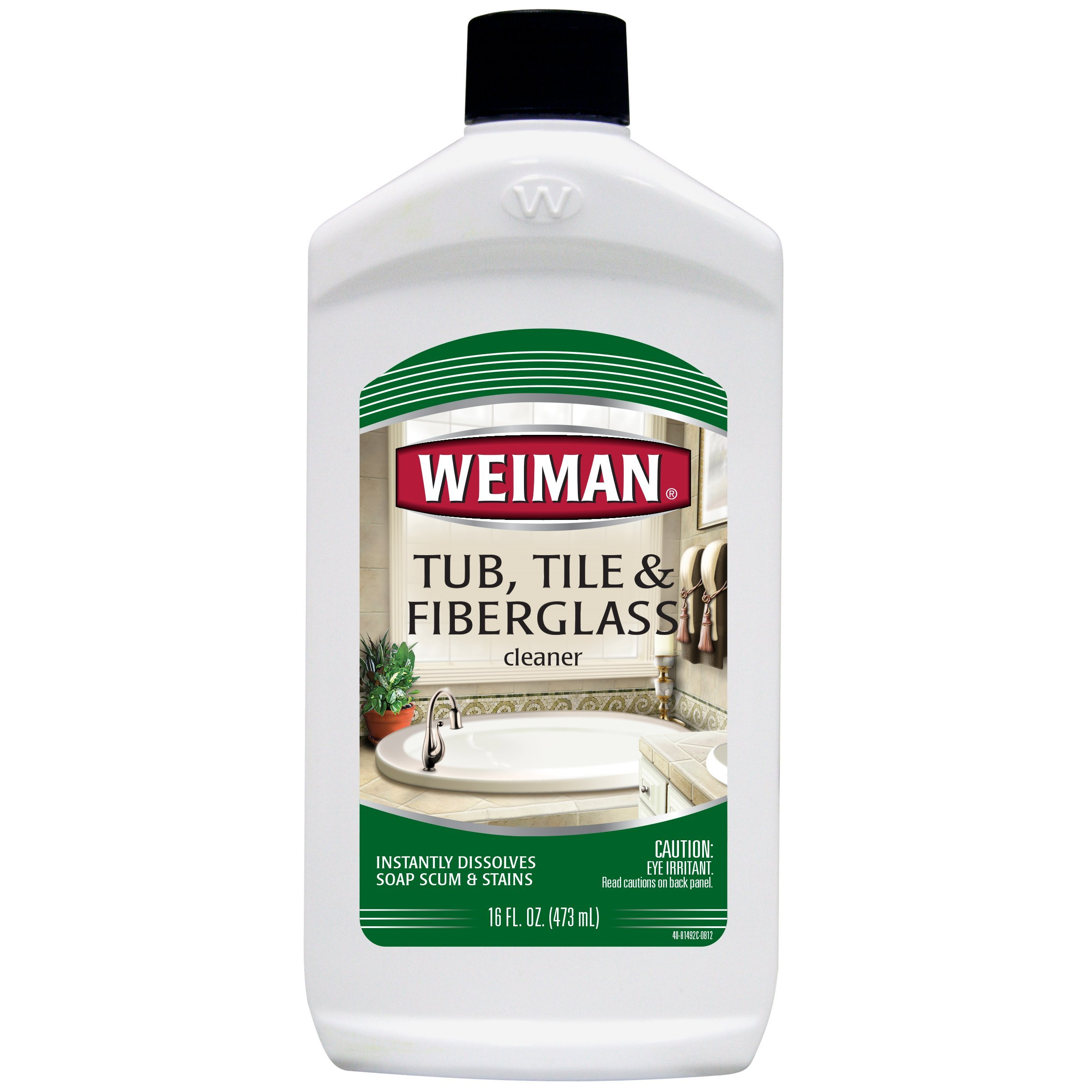 Amazon.com: Weiman Bath Tub Cleaner - 16 Ounce - Fiberglass Cleaner ...