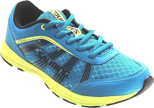 Salming - Zapatillas para niño Azul Cyan Blue, Color Azul, Talla 38 ...