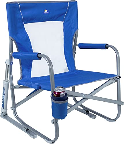 ARROWHEAD OUTDOOR Portable Folding Camping Quad Chair w Lumbar Back Support, Cup Holder Heavy-Duty, Oversize, Supports up to 300lbs Includes Bag USA-Based Support