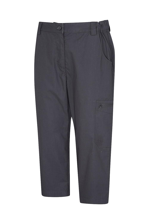 Multiples Poches r/ésistant /à la d/écoloration Id/éal pour Voyager l/éger Mountain Warehouse Pantalon Capri Femmes Trek s/échage Rapide
