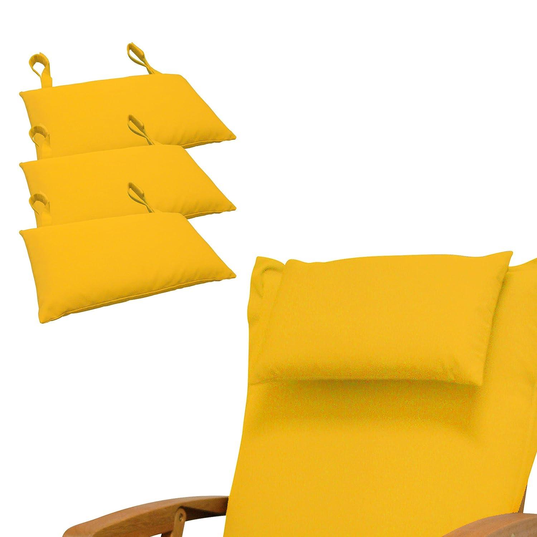 Indoba 4 x Premium-Gelb Kopfkissen-Auflage
