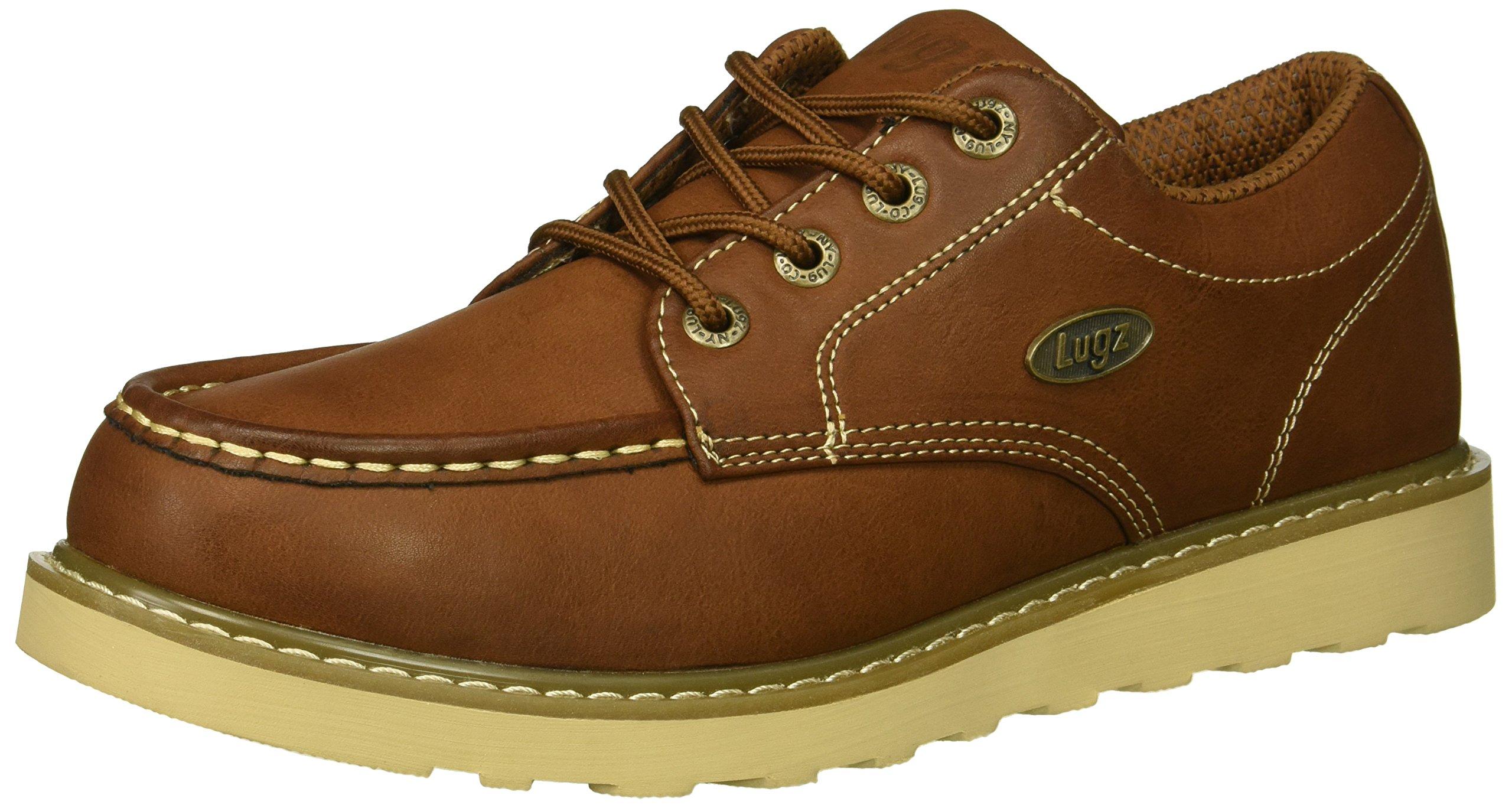 Lugz Men's Roamer Lo Oxford Boot, Dark Brown/Gum/Cream, 10 D US