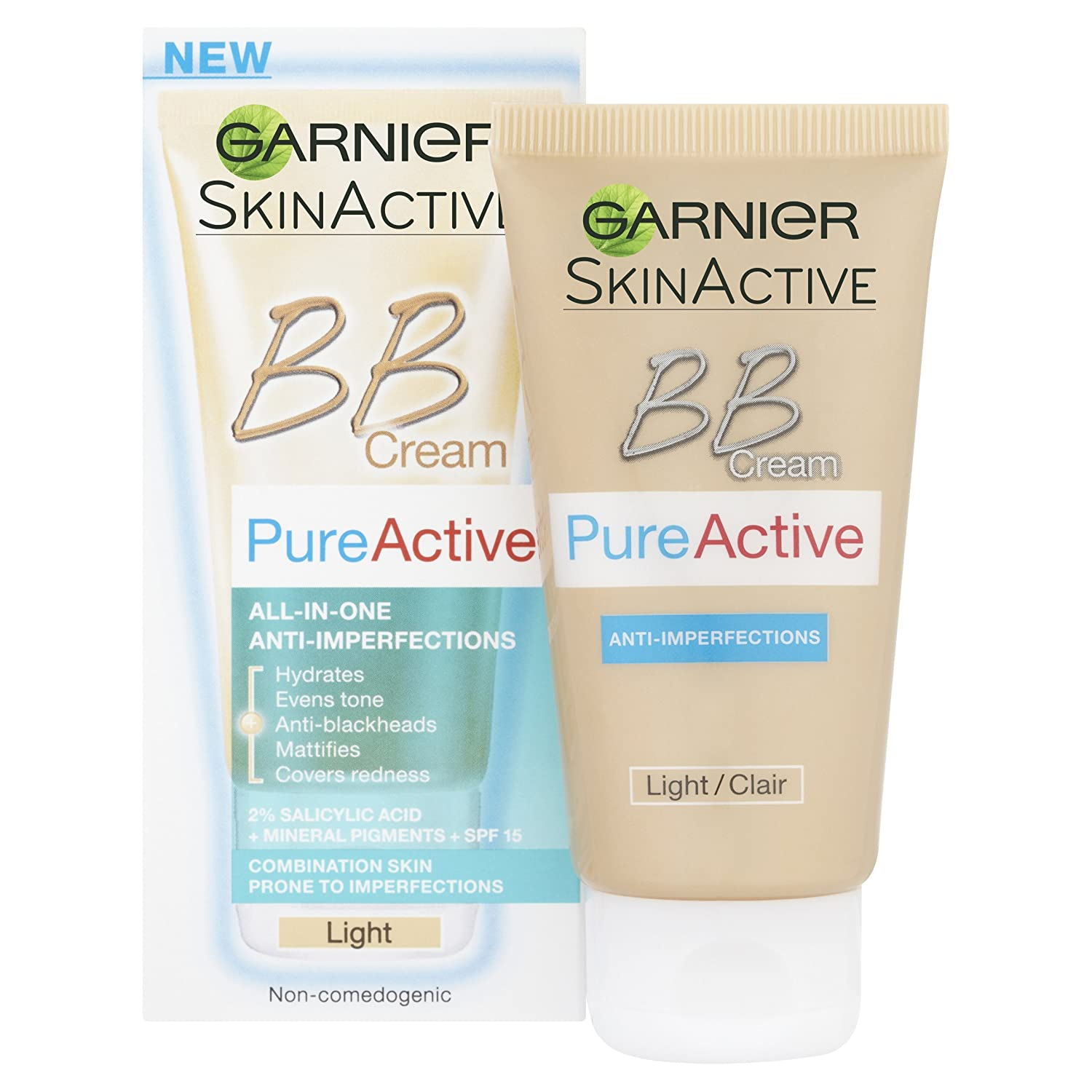 Garnier Pure Active Bb Cream By Combination Skin 50Ml Light