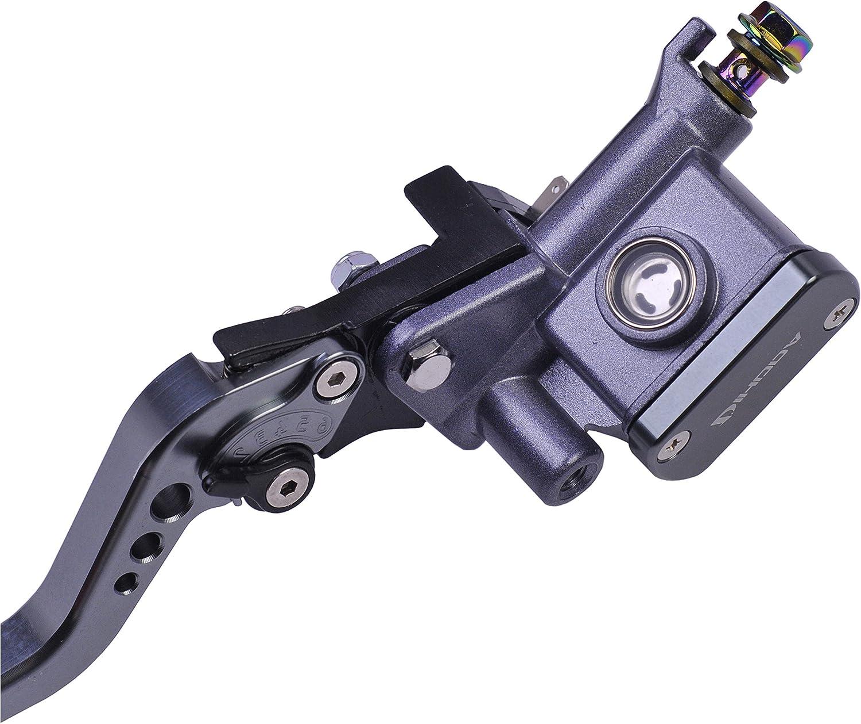 Gris, C/ôt/é droit Frein Levier de frein de moto Ma/ître cylindre dembrayage rouge noir gris pour 7//8barre de levier avant