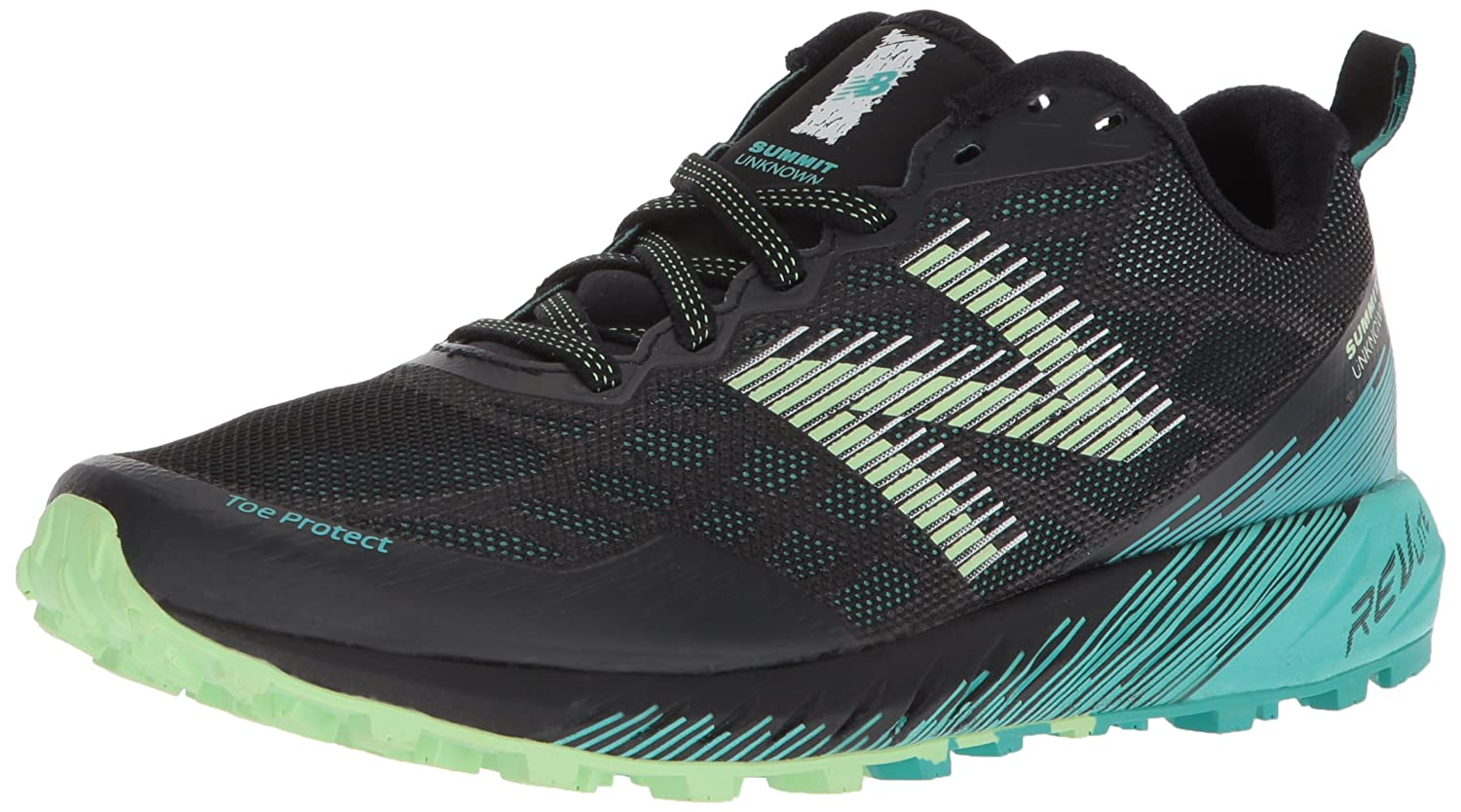 New Balance Women's Summit Unknown Trail Running Shoe B0751GMG1C 8.5 B(M) US|Green/Black