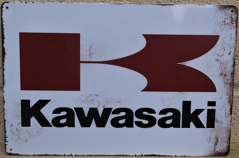 DFG Kawasaki motorcycle motorbike garage metal sign 20 X 30 CM