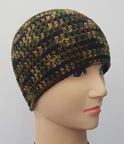 Image Unavailable. Image not available for. Color  Men s Crochet Camouflage  Hat b33eff64677