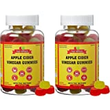 2 Pack - ACV Gummies - Raw Apple Cider Vinegar with Mother (Natural, Vegan, and Non-GMO, 200 Gummies)