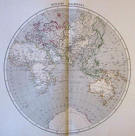 Australia Map Detailed.Amazon Com Eastern Hemisphere Africa Australia Asia Arabia 1874