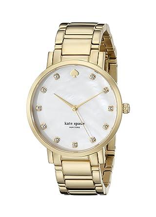 2b5af58ae kate spade new york Women's 1YRU0007 Gold Crystal Marker Bracelet Gramercy  Watch