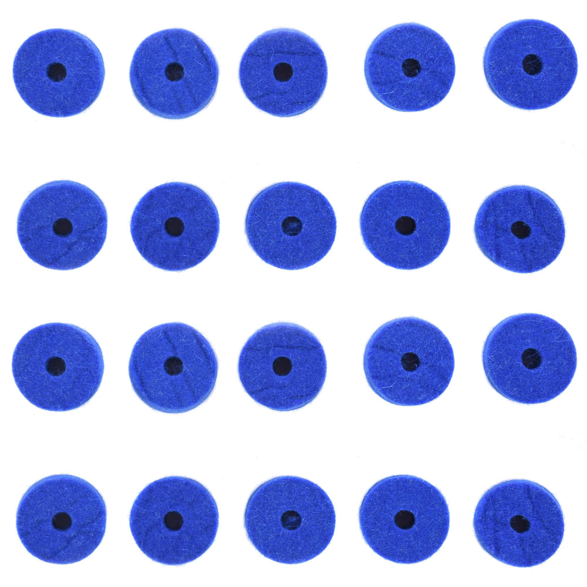 Ahead Wool Cymbal Felts Blue 20 Pack Bundle by Ahead
