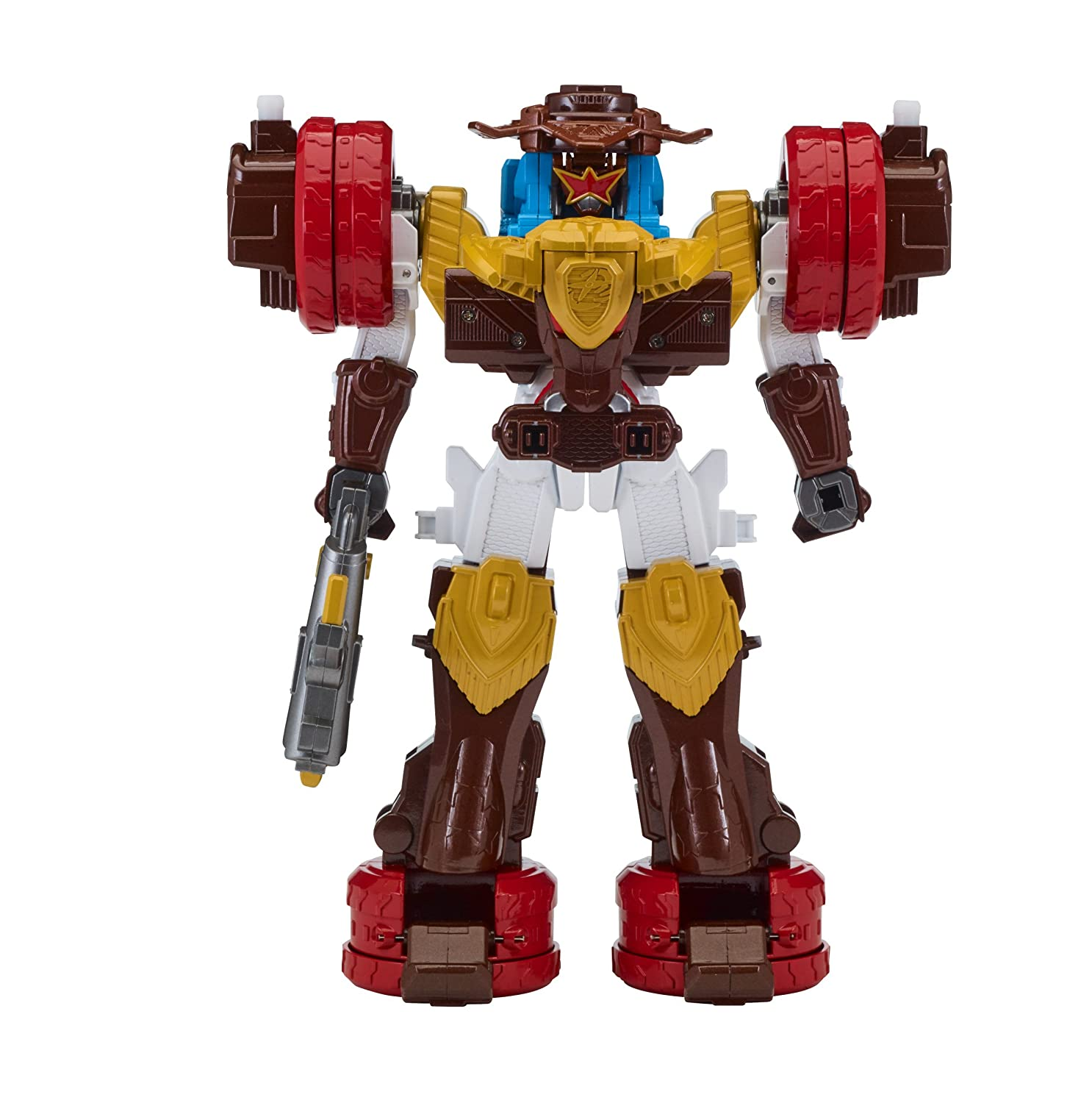 Power Rangers Super Ninja Steel Megazord Figure, Bullrider ...
