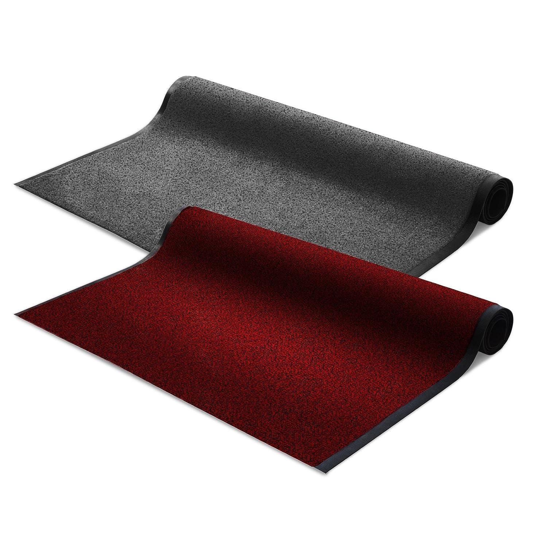 Schmutzfangmatte Schmutzfangläufer SKY | rot | ideale Größe wählbar, Meterware (300x120cm)