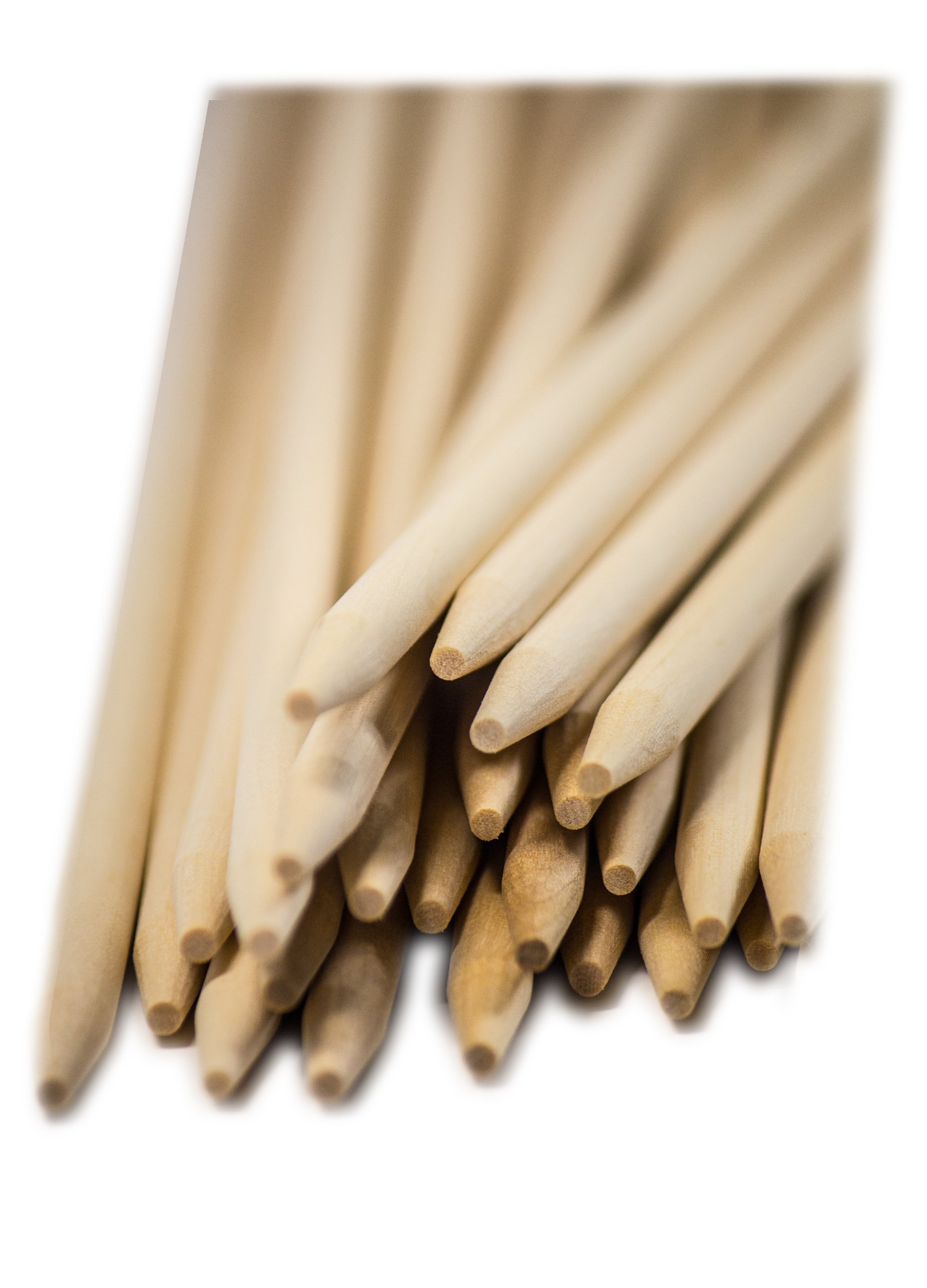 Perfect Stix CDS140SP Birchwood Semi-Pointed Corn Dog Stick, 1/4'' Diameter x 14'' Length (Pack of 500)