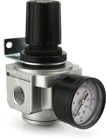 "1 /""Npt Compresor de Aire Presión regular Regulador W Calibre /& Soporte"
