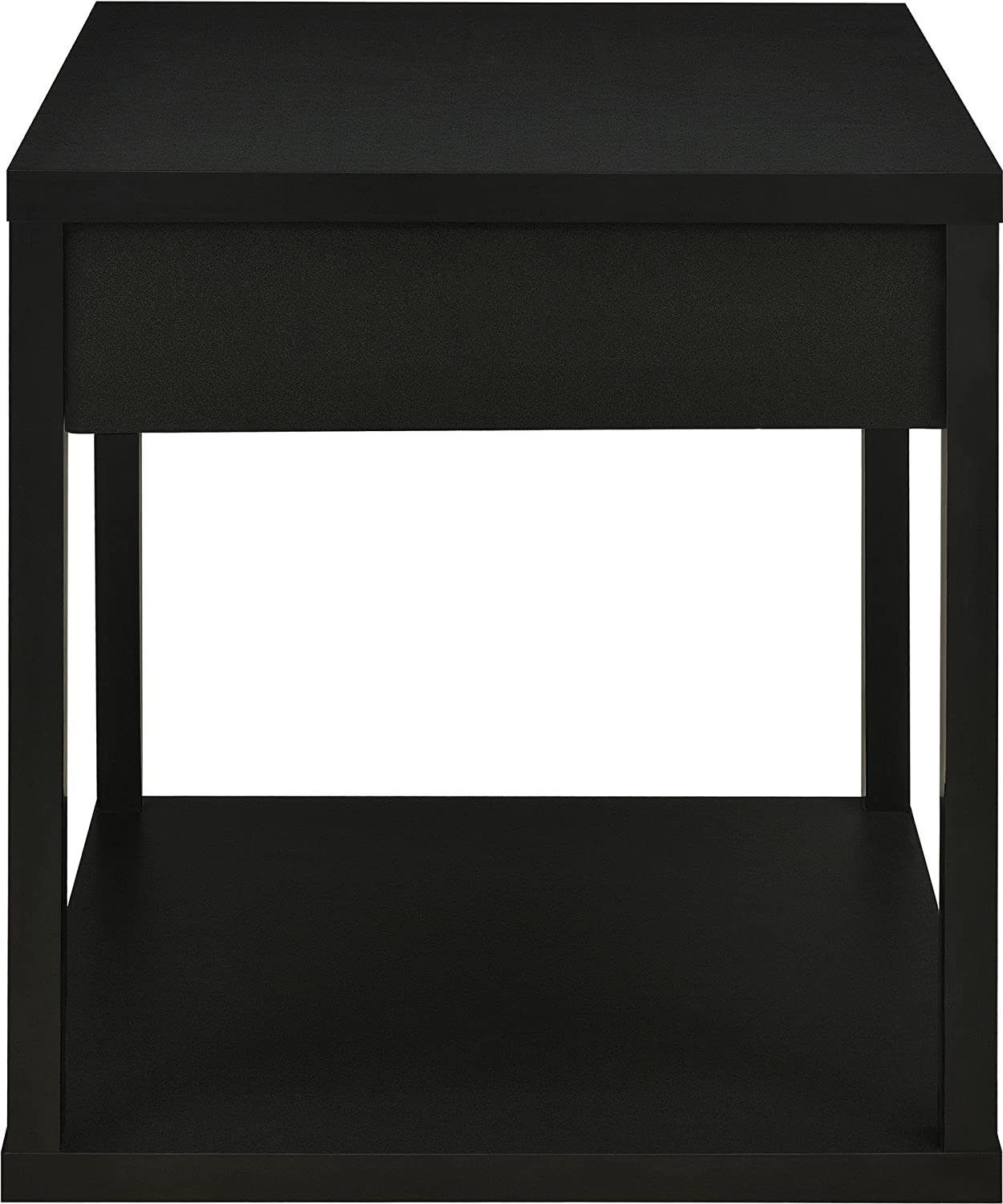 amazoncom parsons end table with drawer black kitchen  dining -