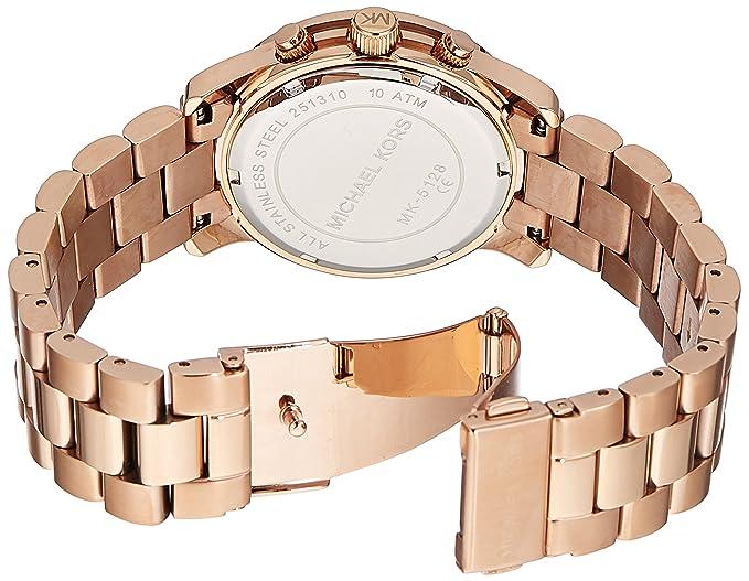 3f4a75fc59ee Michael Kors MK5128 Quartz Rosegold Round Dial Rosegold Band Women s Watch  Michael  Kors  Amazon.ca  Watches