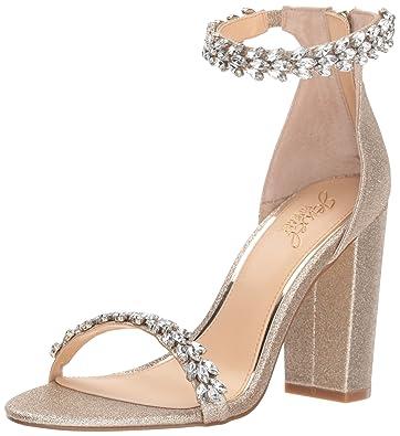 e52f50f7f02 Badgley Mischka Jewel Women s Mayra Heeled Sandal Gold Glitter 6 ...