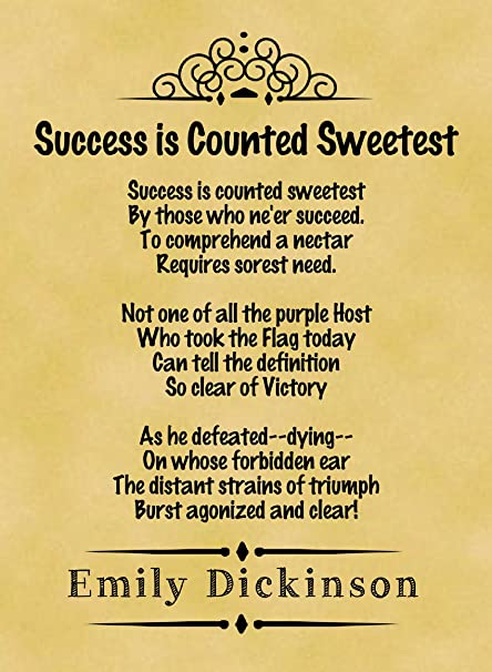success is counted sweetest poem