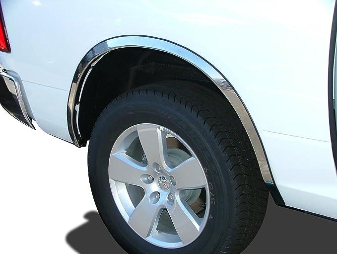 2//4Dr 4Pc Chrome 1//2 Fit Fender Trim For 2002-2008 Dodge Ram Pick Up 2500//3500