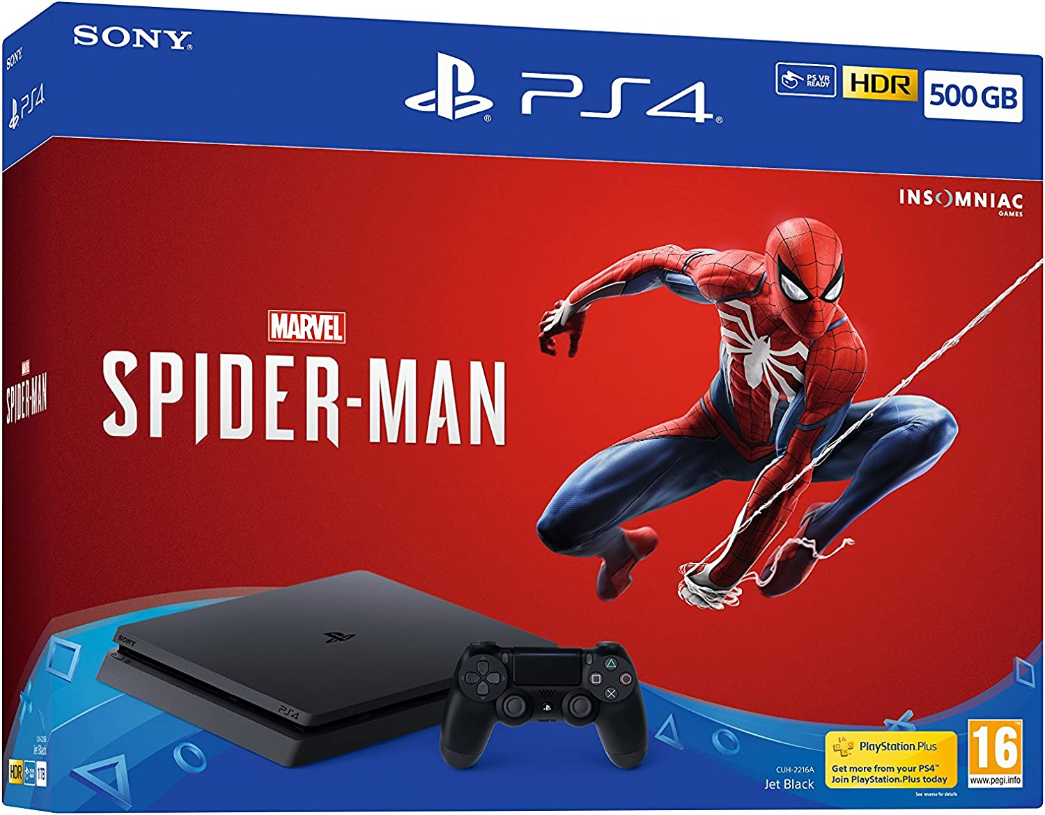 Sony PlayStation 4 500GB Console (Black) with Marvels Spider-Man ...