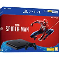 Sony Playstation 4 500GB Console (Black) with Marvel's Spider-Man Bundle