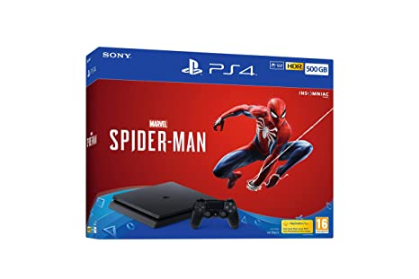 Sony Playstation 4 500 Gb Console (Black) With Marvel's Spider Man by Sony