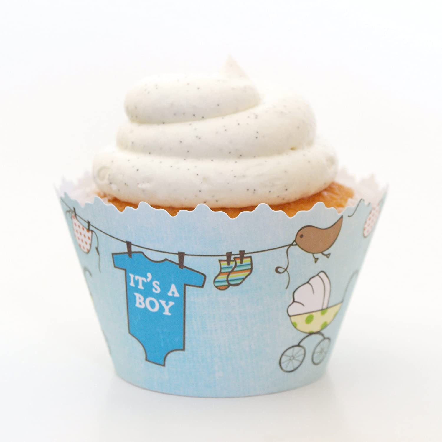 Amazon It s a Boy Baby Shower ADJUSTABLE Cupcake Wrappers