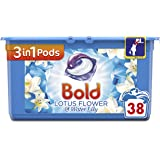 Bold 3-in-1 Pods with a Touch of Lenor Long Lasting Freshness, 38 Washes, Lotus Flower and Water Lily Washing Capsules