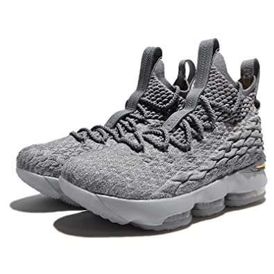2438873bbca62 Amazon.com  Nike Youth Lebron 15 Boys Basketball Shoes Wolf Grey Cool Grey Metallic  Gold 922811-005 Size 6  Shoes