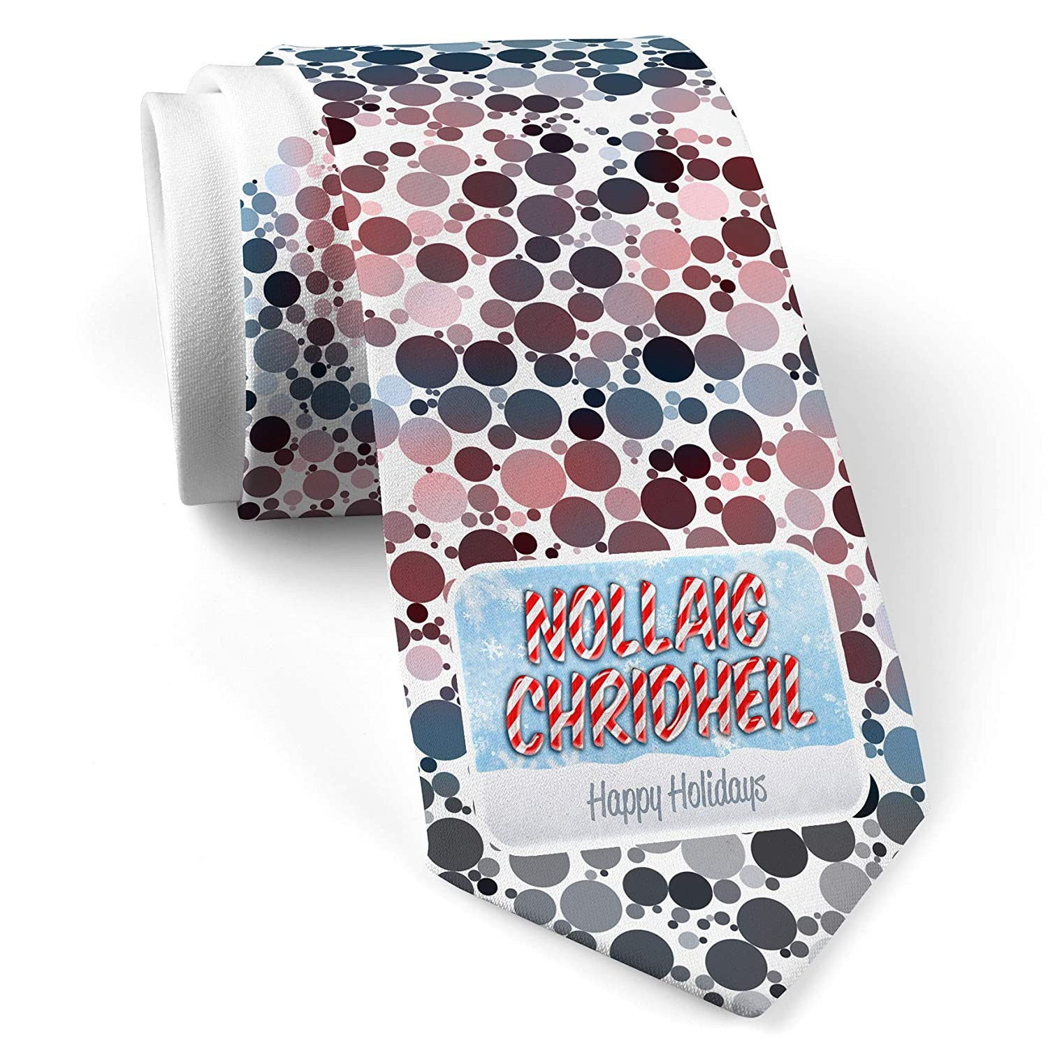 Christmas In Color.Neck Tie With Merry Christmas In Scottish Gaelic From