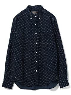 Dot Corduroy Buttondown Shirt 11-11-0760-139: Navy