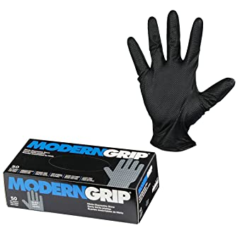 Modern Grip 18195-M Nitrile 8 mil Thickness Premium Disposable Heavy Duty Gloves – Industrial
