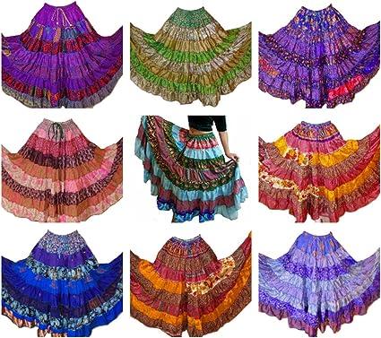 Pack de 10 – 7 Patio Tribal Gitano Maxi niveles falda danza del ...